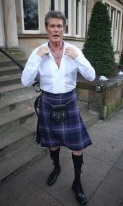 David Hasselhoff da Baywatch alla Scozia il passo ... é purtroppo breve!