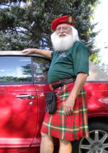 Anche a Santa piace il kilt!