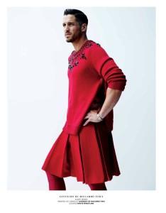 Comme Des Garçons kilt and Givency accessories