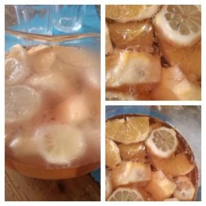 Ricettina del Koala con pezzettoni di arancia e limone, aggiungeteci a macerare pure della menta fresca! Preparatelo magari dalla sera prima cosí si insaporisce per bene hmmmm yummy! ;D