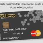 Cambiare da Euro a Pound utilizzando la carta WeSwap!